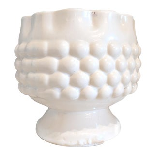 Cream Knobbly and Scalloped Pot For Sale