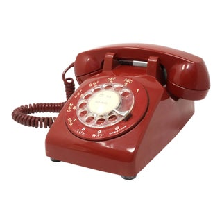 1960's Vintage Northern Electric Red Rotary Telephone For Sale
