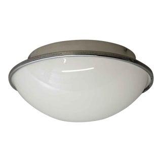 European Mid-Century Modern Dome Flush Mount Light For Sale