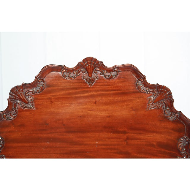 Carved Mahogany Pie Crust Tilt-Top Table For Sale - Image 4 of 7