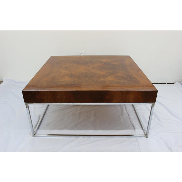 Milo Baughman Mid Century Modern Milo Baughman coffee table For Sale - Image 4 of 7