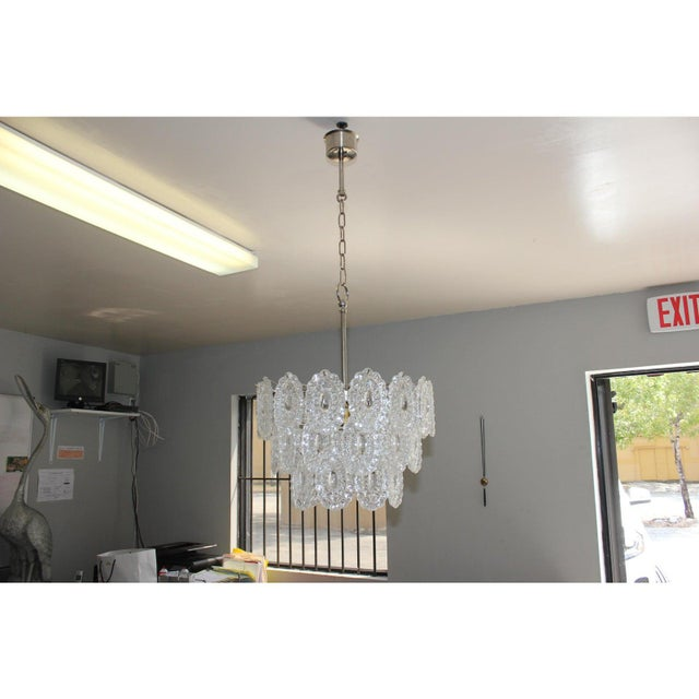 Italian Modern Chandelier by Murano Glass, Circa 1960s For Sale In Miami - Image 6 of 12
