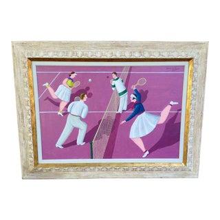 "1987 ""Tennis"" Painting by Oscar De Mejo For Sale"