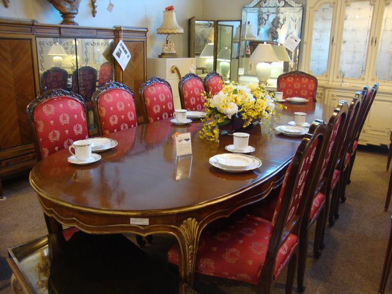 Set Of 14 Dining Chairs Louis Xv Style Maison Jansen Chairish