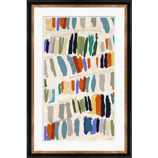 """Library, Blue"" By Dana Gibson, Framed Art Print For Sale"