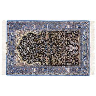 Persian Pasargad N Y Isfahan Korker Wool & Silk Highlighted Rug - 3′7″ × 5′6″