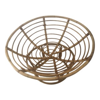1960s Retro Rattan Round Chair For Sale