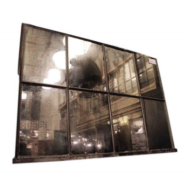 Reclaimed Eight Light Industrial Mirrored Window - Image 2 of 4