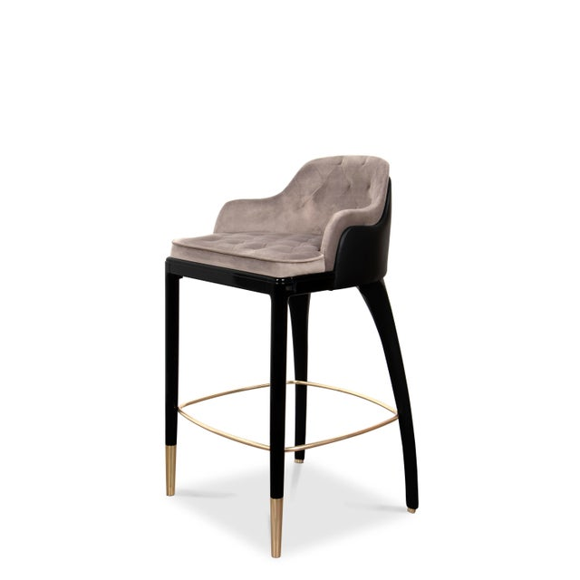 Modern Covet Paris Charla Bar Chair For Sale - Image 3 of 9