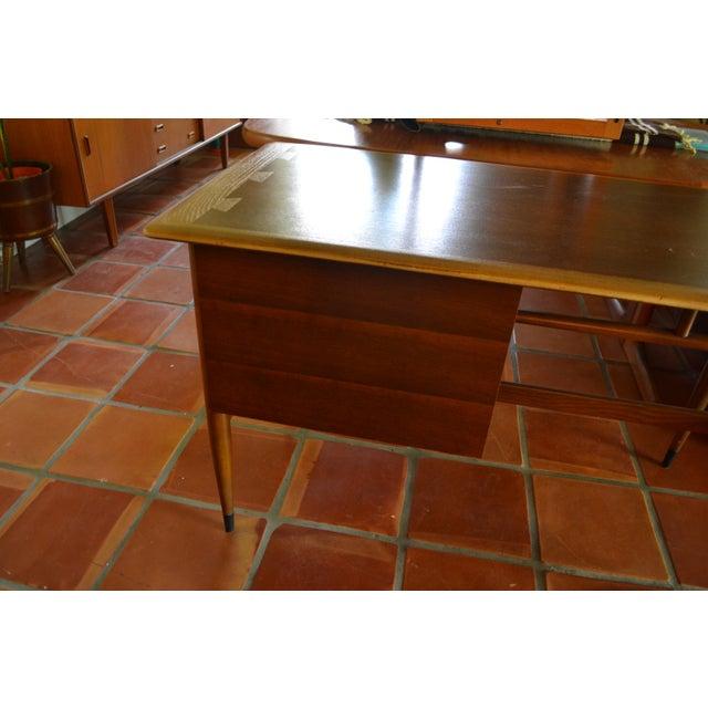 Veneer Mid Century Modern Desk by Lane Acclaim For Sale - Image 7 of 12