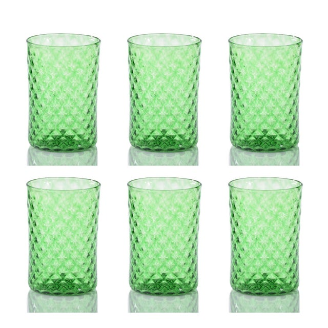 Rosemary Mandala Drinking Glass - Set of 6 For Sale - Image 4 of 4