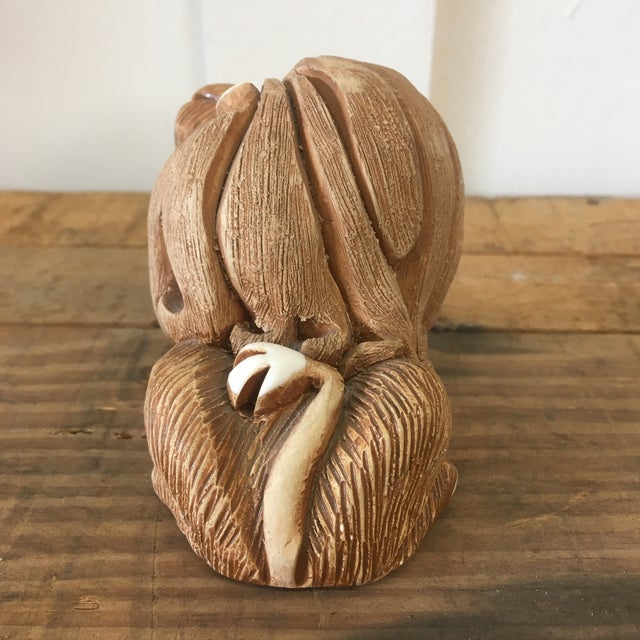 Mid-Century Clay Lion Sculpture - Image 5 of 10