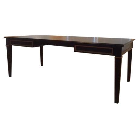 Black Custom Partner Desk For Sale
