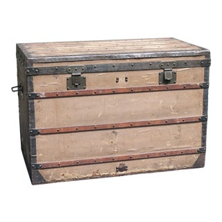 Louis Vuitton Flat Top Trunk Circa 1860 For Sale