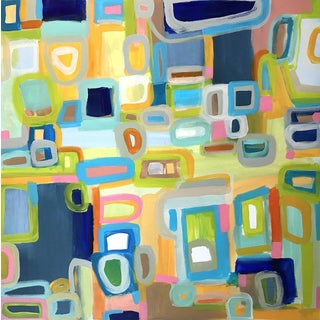 'Haberdashery' Original Abstract Painting by Linnea Heide For Sale