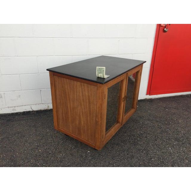 Brutalist Mid-Century Mobile Rolling Bar Cart For Sale - Image 3 of 9