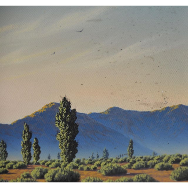 Realism Michael Sarraille Rocky Mountain Landscape Oil Painting For Sale - Image 3 of 9
