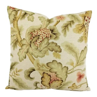F. Schumacher Shelton Tree Bisque Pillow Cover For Sale