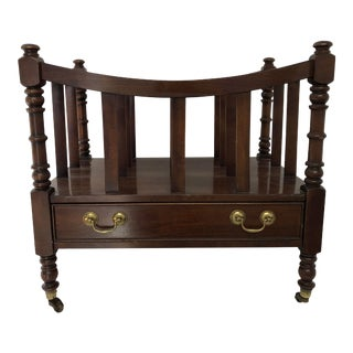 Ethan Allen Mahogany Magazine Rack For Sale