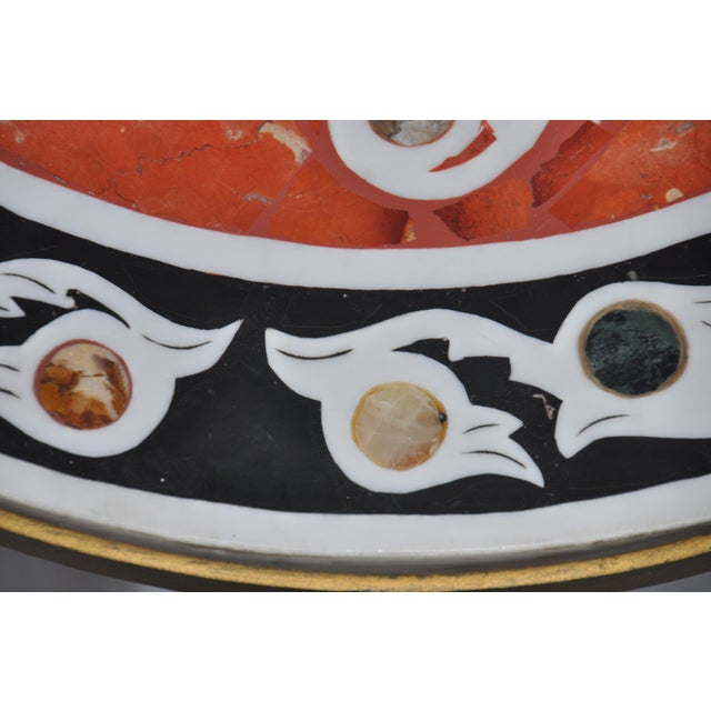 Vintage Pietra Dura Mosaic Side Table - Image 5 of 8