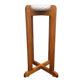 1950s Mid-Century Modern Wooden Plant Stand For Sale