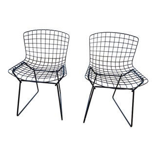 1960s Vintage Black Bertoia Child-Sized Chairs for Knoll- A Pair For Sale
