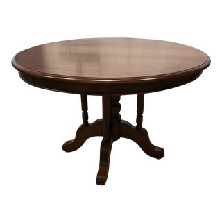 Vintage Round Pedestal Table For Sale