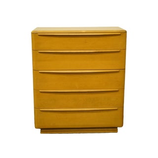 """Heywood Wakefield Mid Century Modern 38"""" Chest of Drawers For Sale"""
