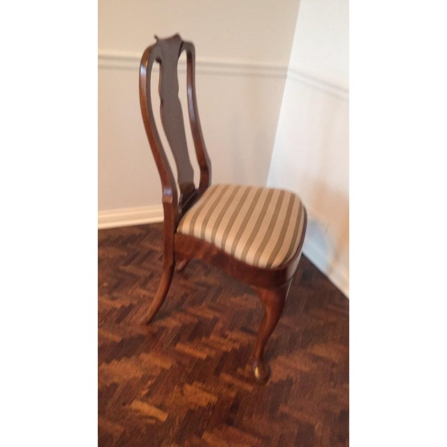 Antique Mahogany Dining Chairs - Set of 8 - Image 10 of 11