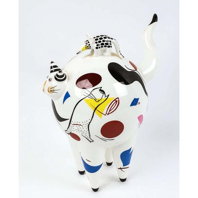 """VILLEROY and BOCH """"Fat Cat"""" by Rosemary Benedikt RARE Made in France Whimsical """"Fat Cat"""" by Rosemary Benedikt Miro styled..."""