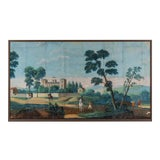 Image of Five Early 19th Century Neoclassical Paper Peint Wallpaper Murals For Sale