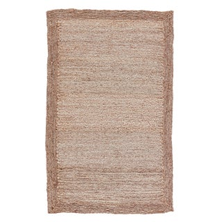 Jaipur Living Aboo Natural Beige Area Rug - 9′ × 12′ For Sale