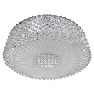 Murano Textured Glass Flush Mount