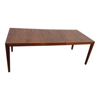 Mid-Century Early Knoll Walnut Dining Table With Leaf