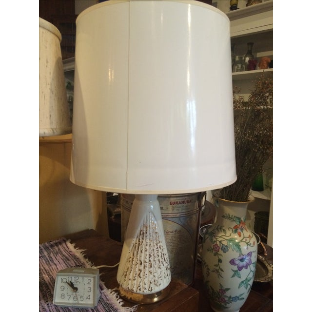Vintage Cream & Gold Lamp - Image 2 of 6