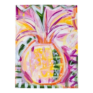 Pineapple #3 Abstract Painting by Christina Longoria For Sale