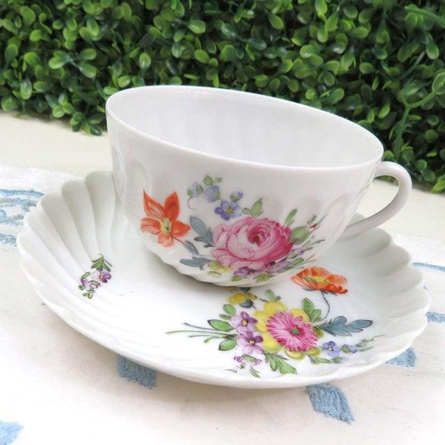 Vintage Nymphenburg Dresden Flowers Tea Cup & Saucer Set - Image 9 of 10