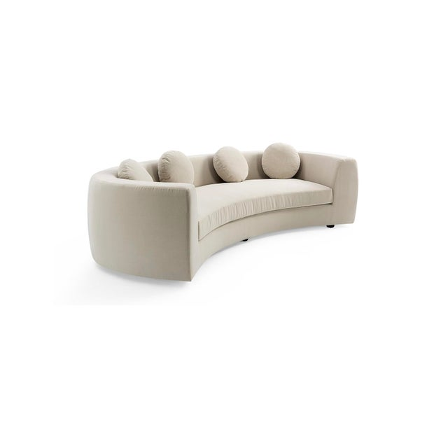 Not Yet Made - Made To Order Vesta Maxine Rounded Sofa For Sale - Image 5 of 6
