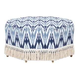 Casa Cosima Istanbul Cocktail Ottoman in Ikat For Sale