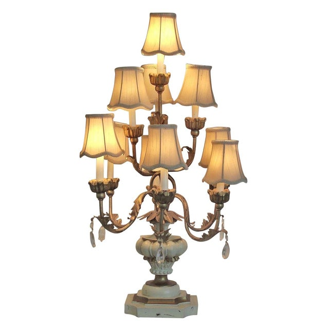 Tiered Table Lamp For Sale