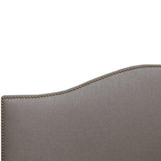 Linen Grey Queen Nail Button Bed Preview