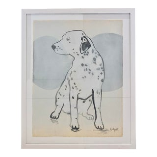 """""""The Prism Collection, Dog"""" Painting on Paper For Sale"""
