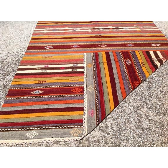 Vintage Turkish Kilim Rug - 5′10″ × 10′7″ - Image 6 of 6