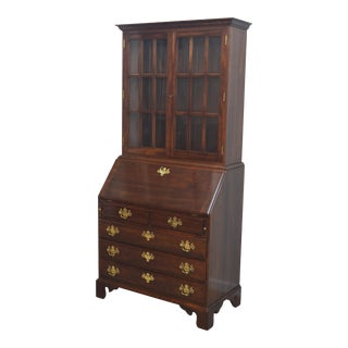 Late 20th Century Stickley Cherry Chippendale Secretary Desk For Sale