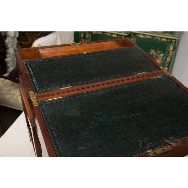 Mahogany 19th Century Mahogany Lap Desk on Later Stand For Sale - Image 7 of 9