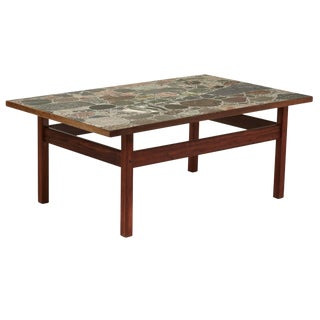 Circa 1965 Norwegian 'Conglo' Terrazzo Stone Top Coffee Table