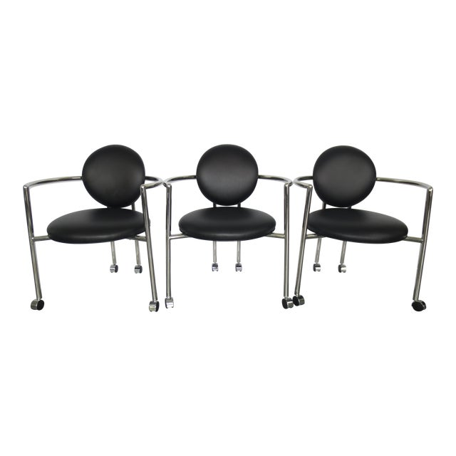 Stanley J Friedman for Brueton Moon Chairs - S/3 - Image 1 of 6