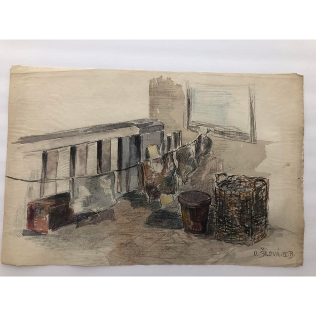From a group of watercolors from the 1920s by Olga Silova. These works were probably produced in Eastern Europe, possibly...