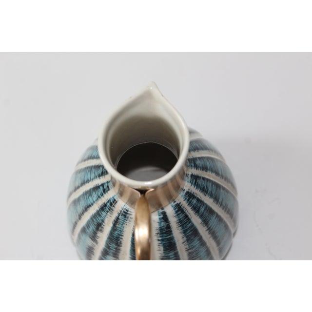 Ceramic 1957 Vintage C Miller Mid Century Ceramic Warming Carafe Decanter For Sale - Image 7 of 10