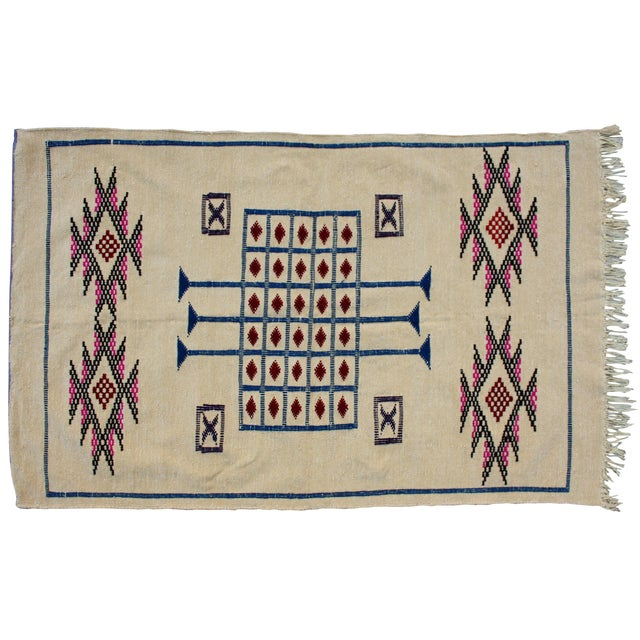 Moroccan Cactus Silk Rug - 3′1″ × 4′10″ - Image 1 of 2